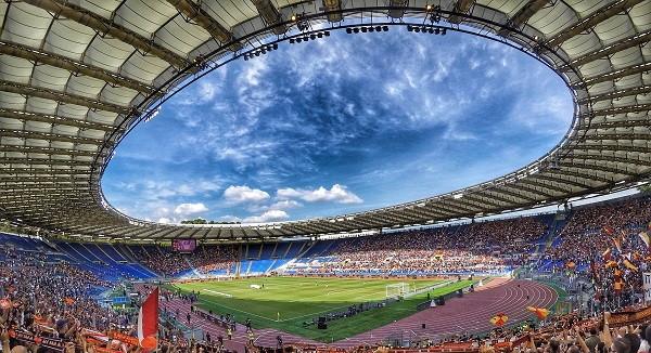 Een blik op het Stadio Olimpico