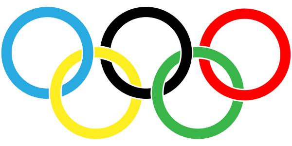 De 5 ringen van de Olympische Vlag